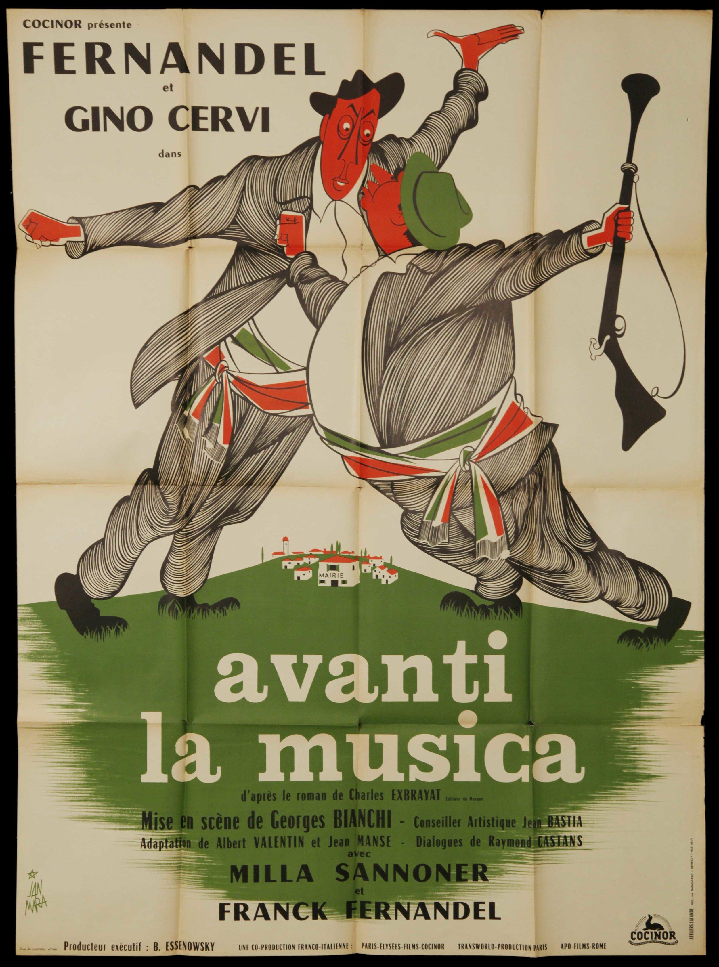 """Fernadel in """"Avanti La Musica"""" (1962)"""