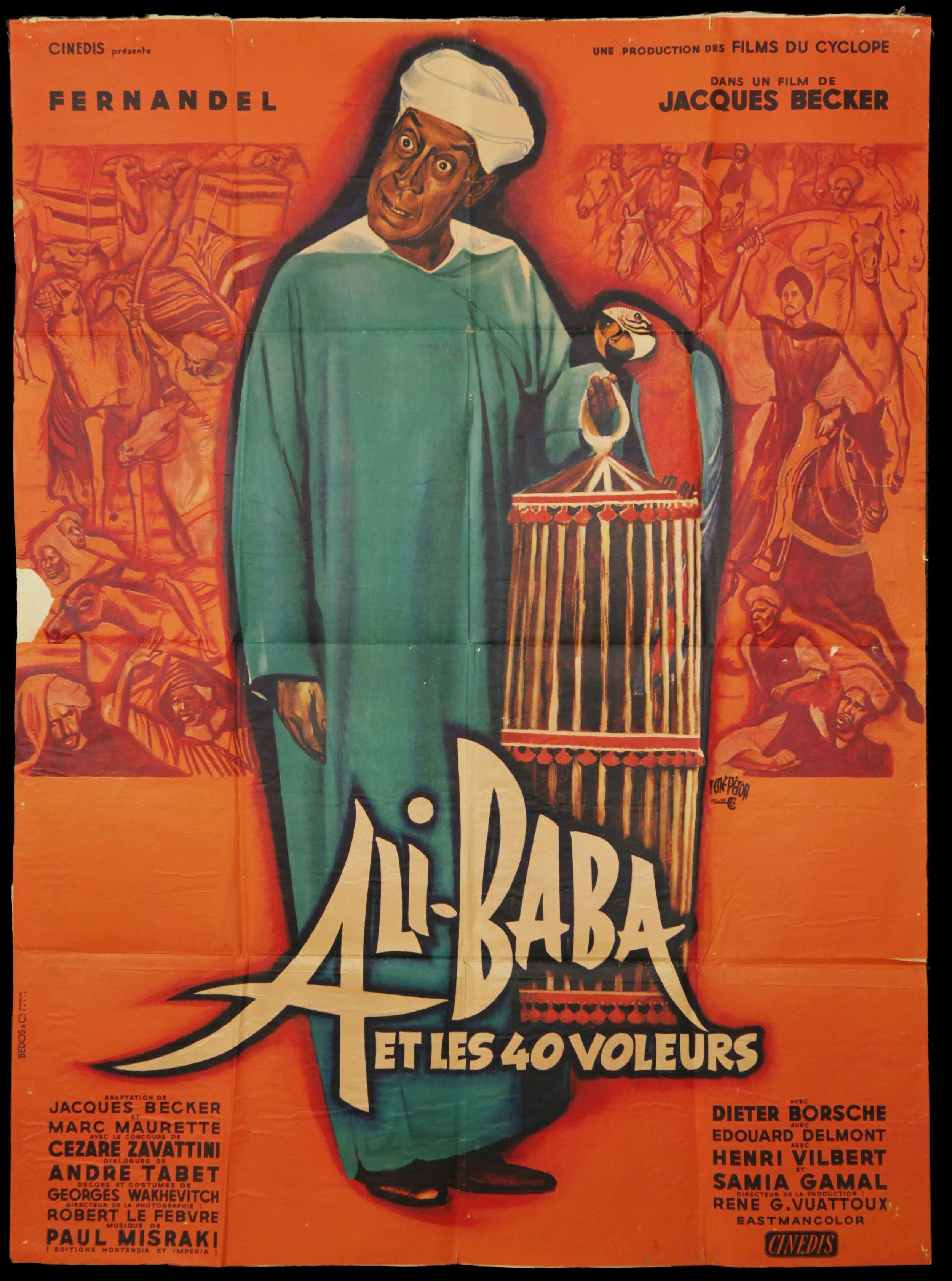 """Fernadel in """"Ali Baba Et les Voileurs"""" (1954)"""