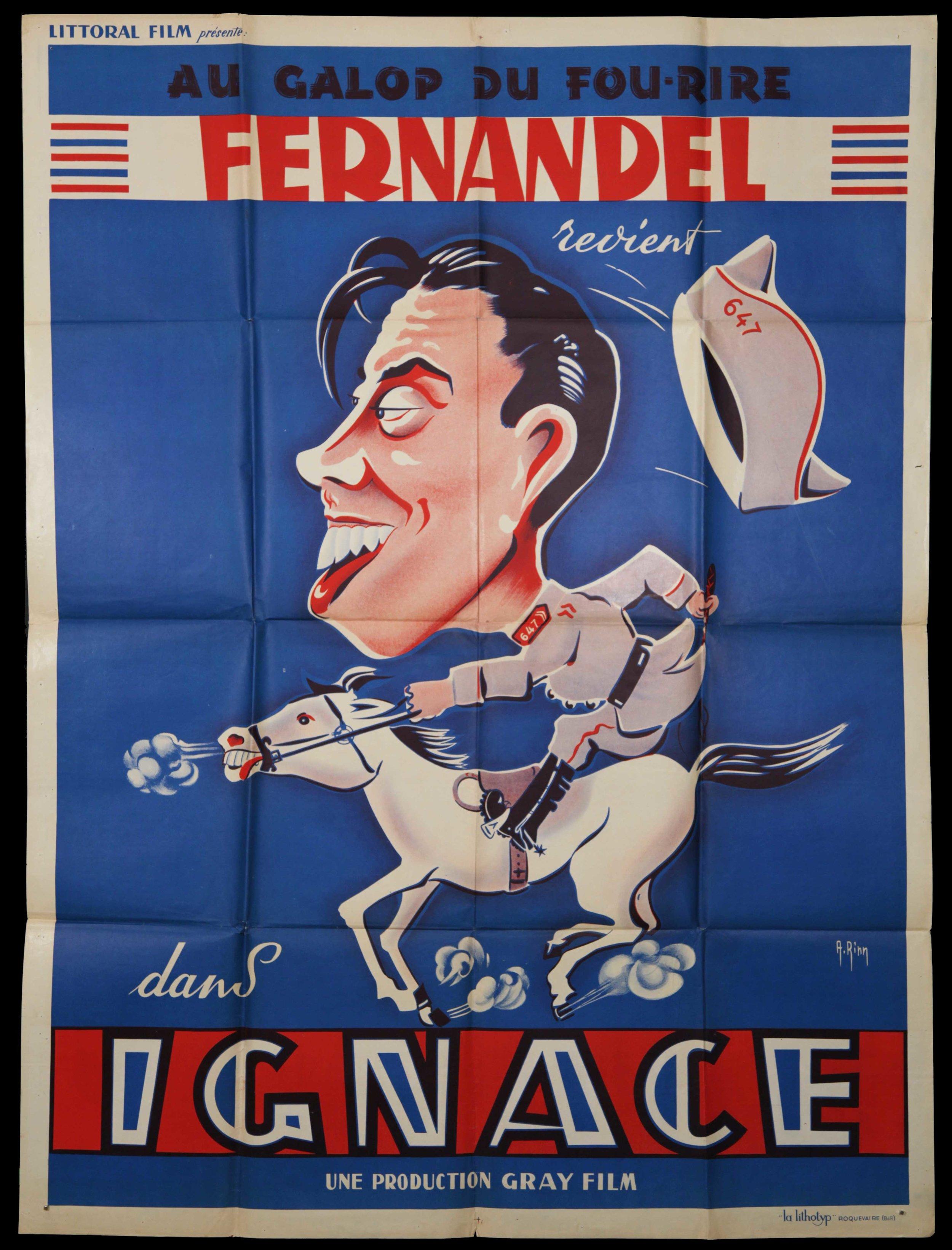 """Fernandel in """"Ignace"""" (1934)"""