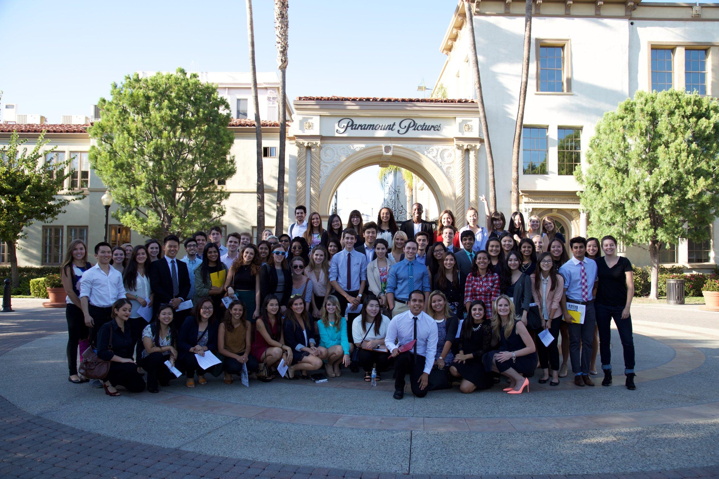 USC-2017 Class field trip to Paramount Studios