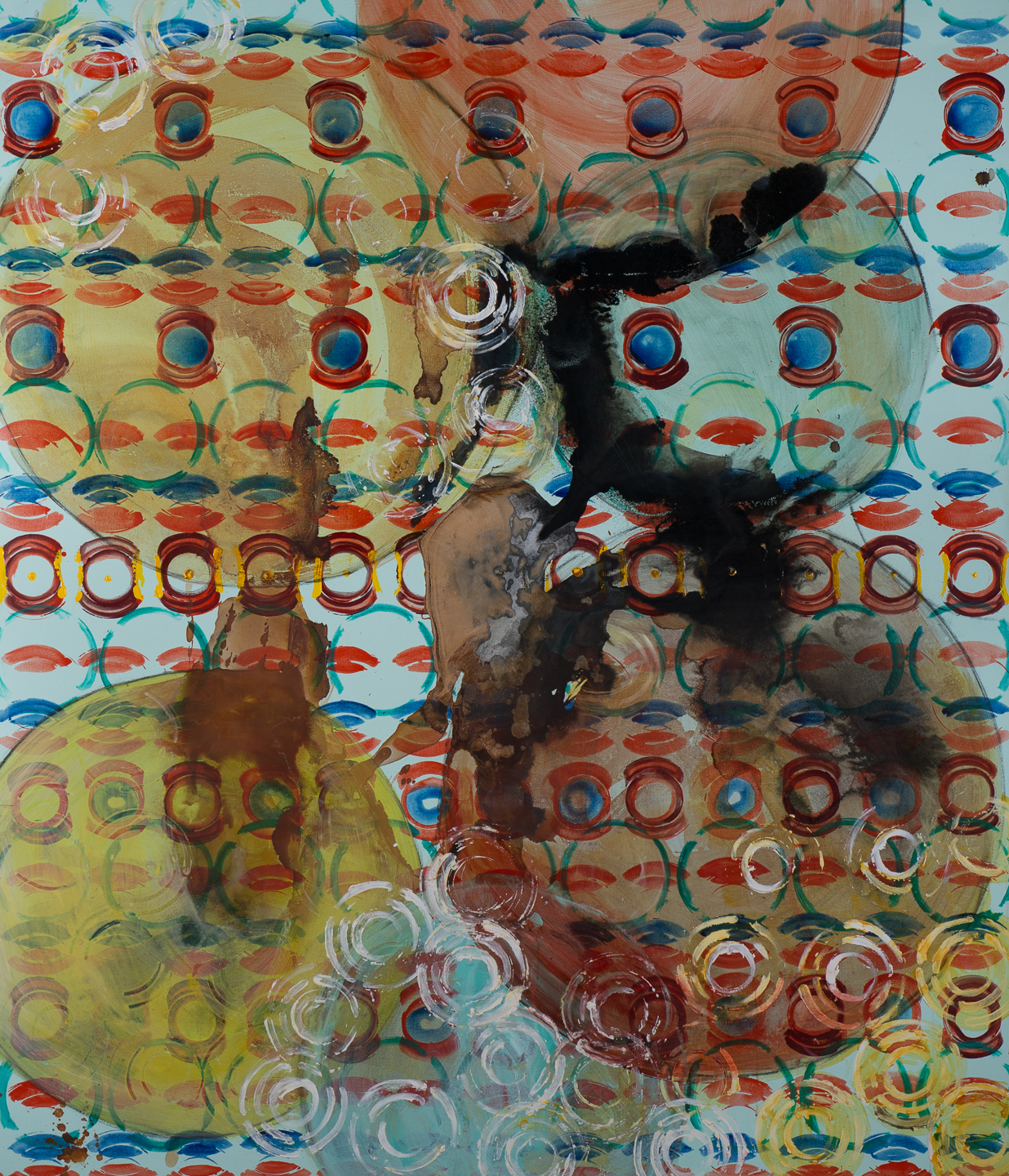 Chuck Potter_Bubble Pattern_84in x 72in_Acrylic paint, sumi ink, and rust on canvas_12000.j.jpg