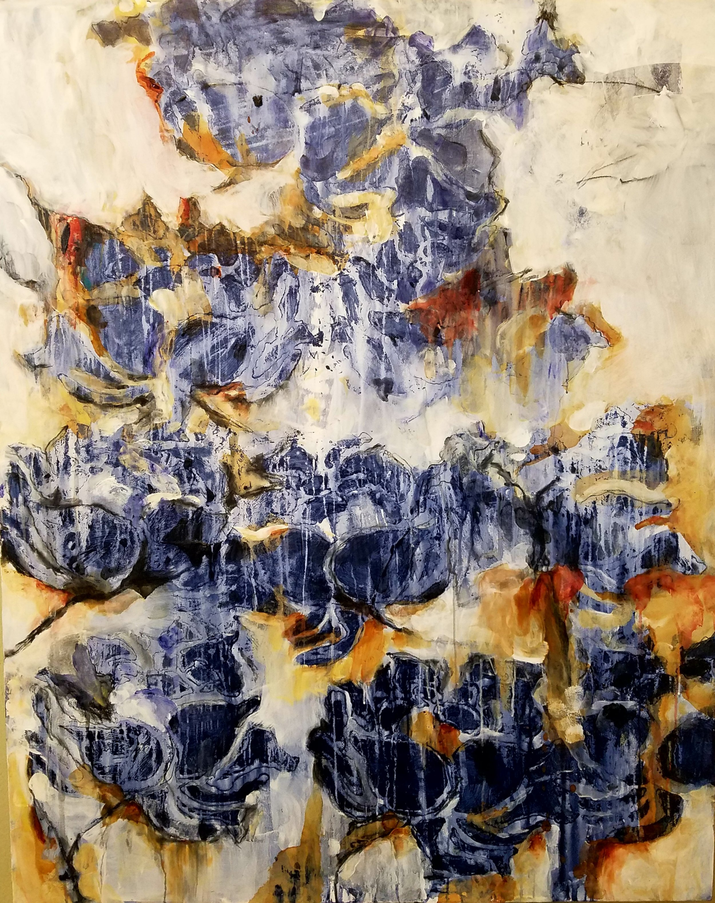 Diane Williams_Blue Willow_48 in x 60 in_acrylic, rust and Stabilo pencil on canvas.jpg