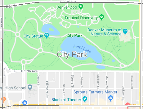 South City Park is defined by York Street to the West, 23rd Street to the North, Colorado Blvd to the East & Colfax Ave. to the South.  To view the full Denver Neighborhood map,  click here.