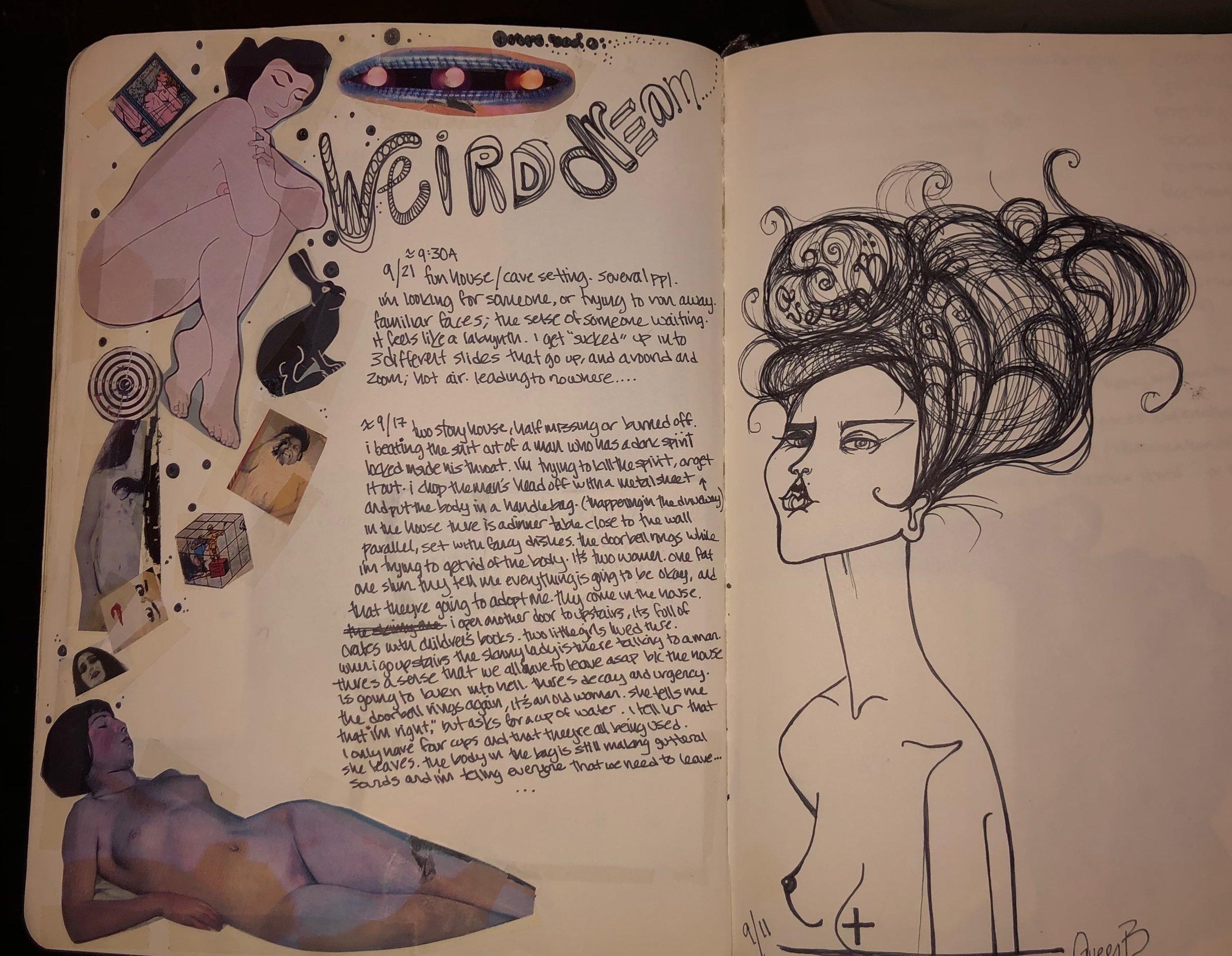 weird dream journal