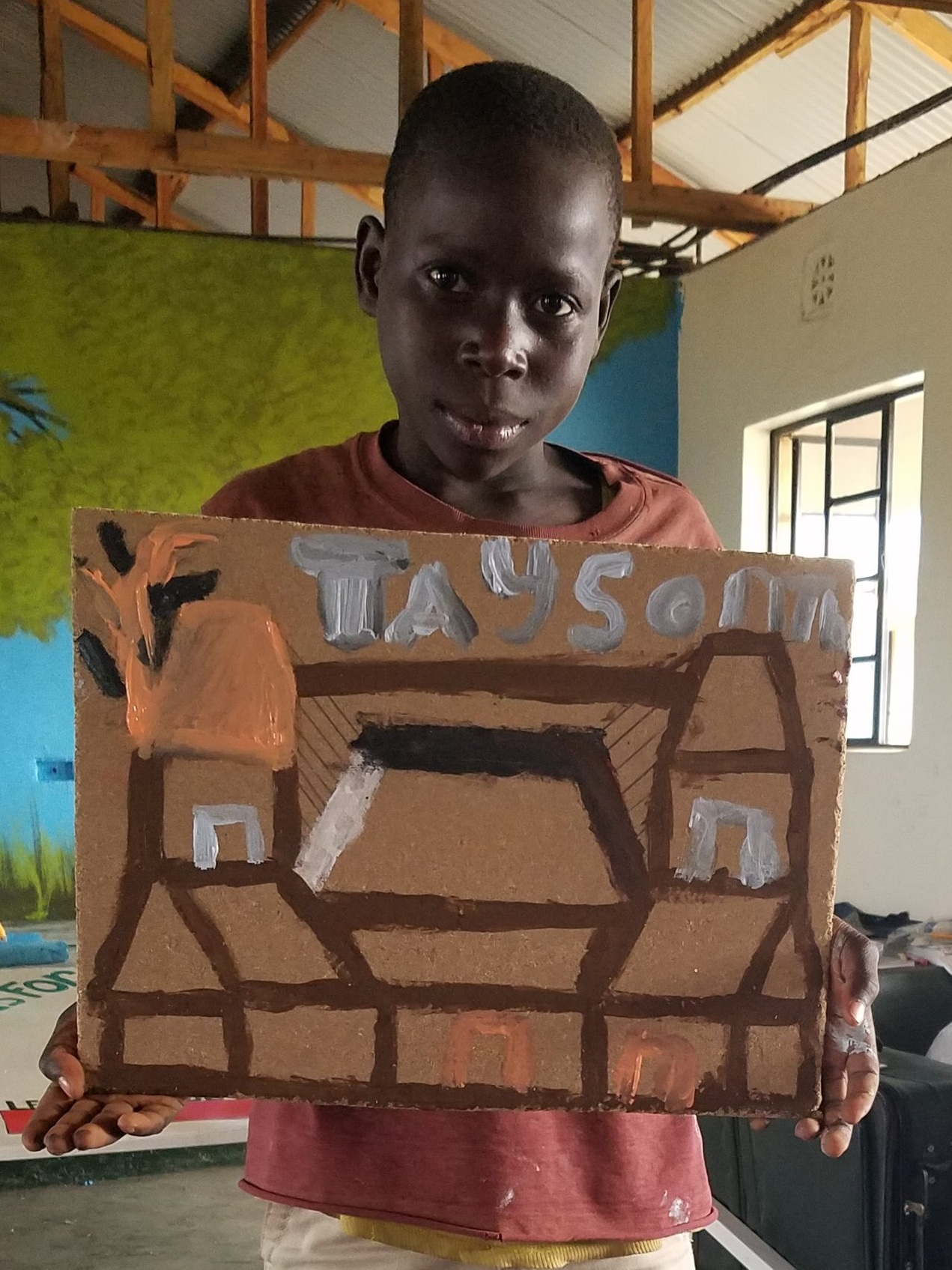This is the very 1st time Tayson has EVER used paint or made a picture - he was SO proud :-)