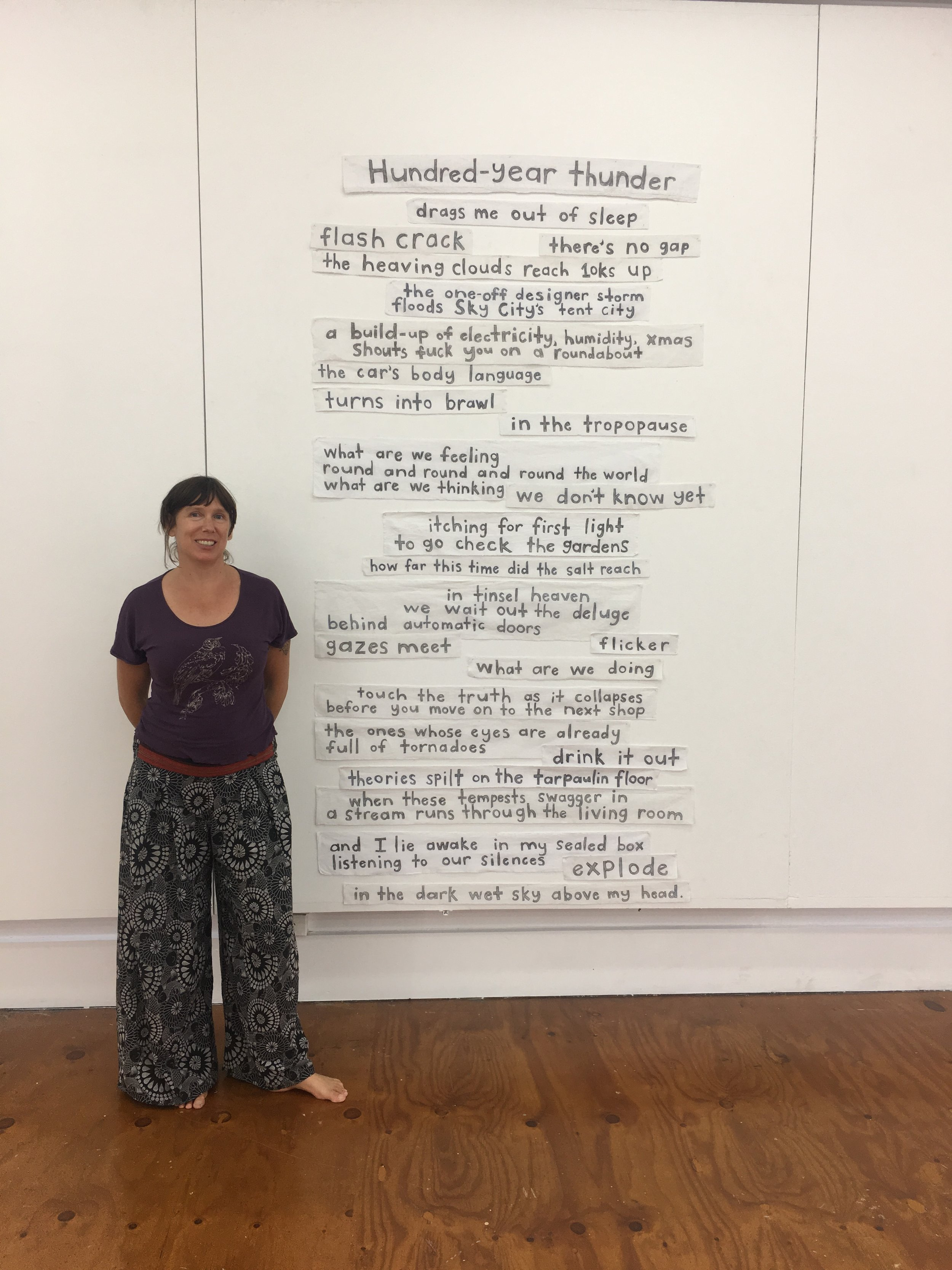 visual poetry installation - This poem was made for the Toi Kupu Visual Poetry Exhibition.