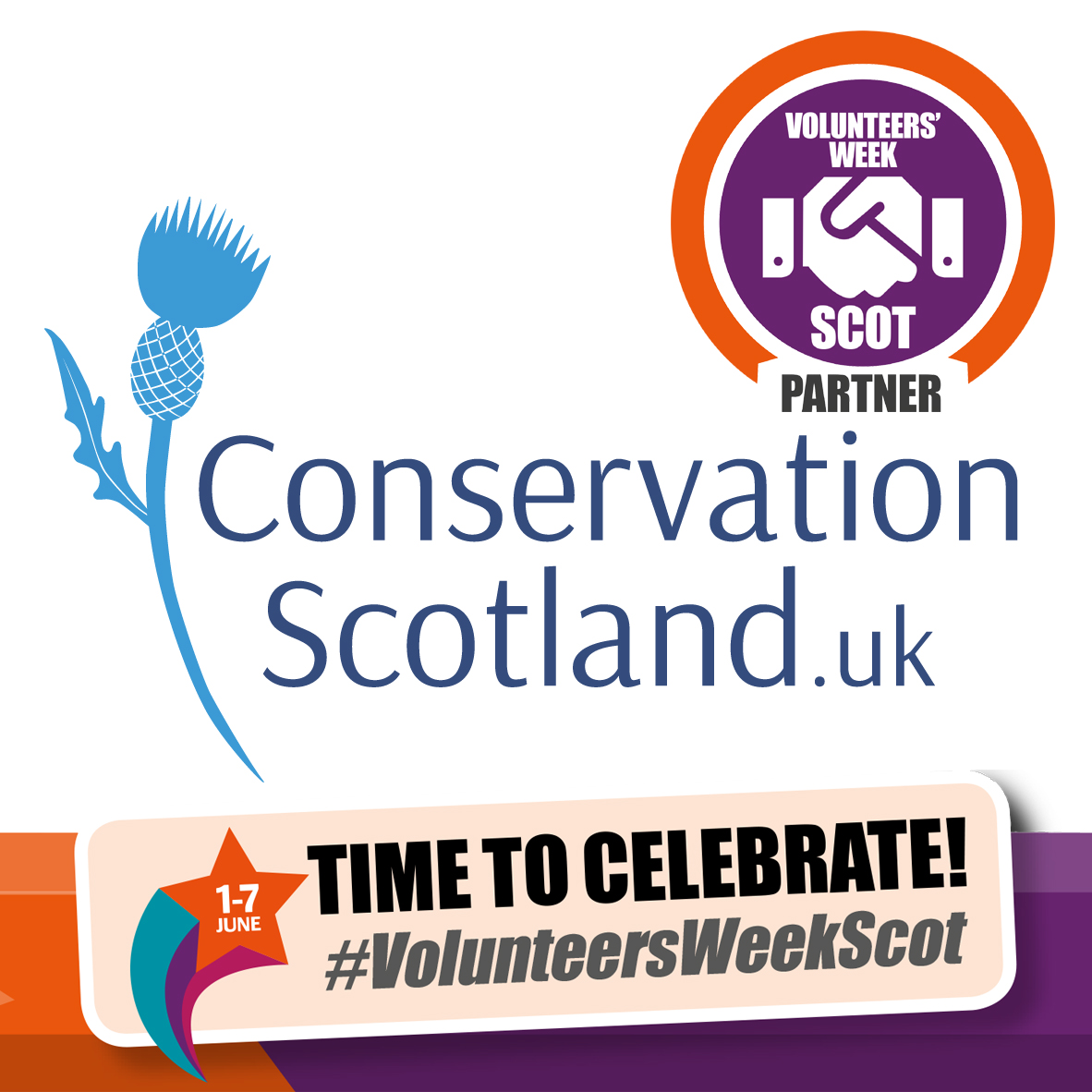 Conservation Scotland, the online hub for sharing free, nature-based activities and conservation volunteering opportunities in Scotland is proud to be a partner of the 2019 Volunteers' Week Scotland – dates for your diary at  www.conservationscotland.uk