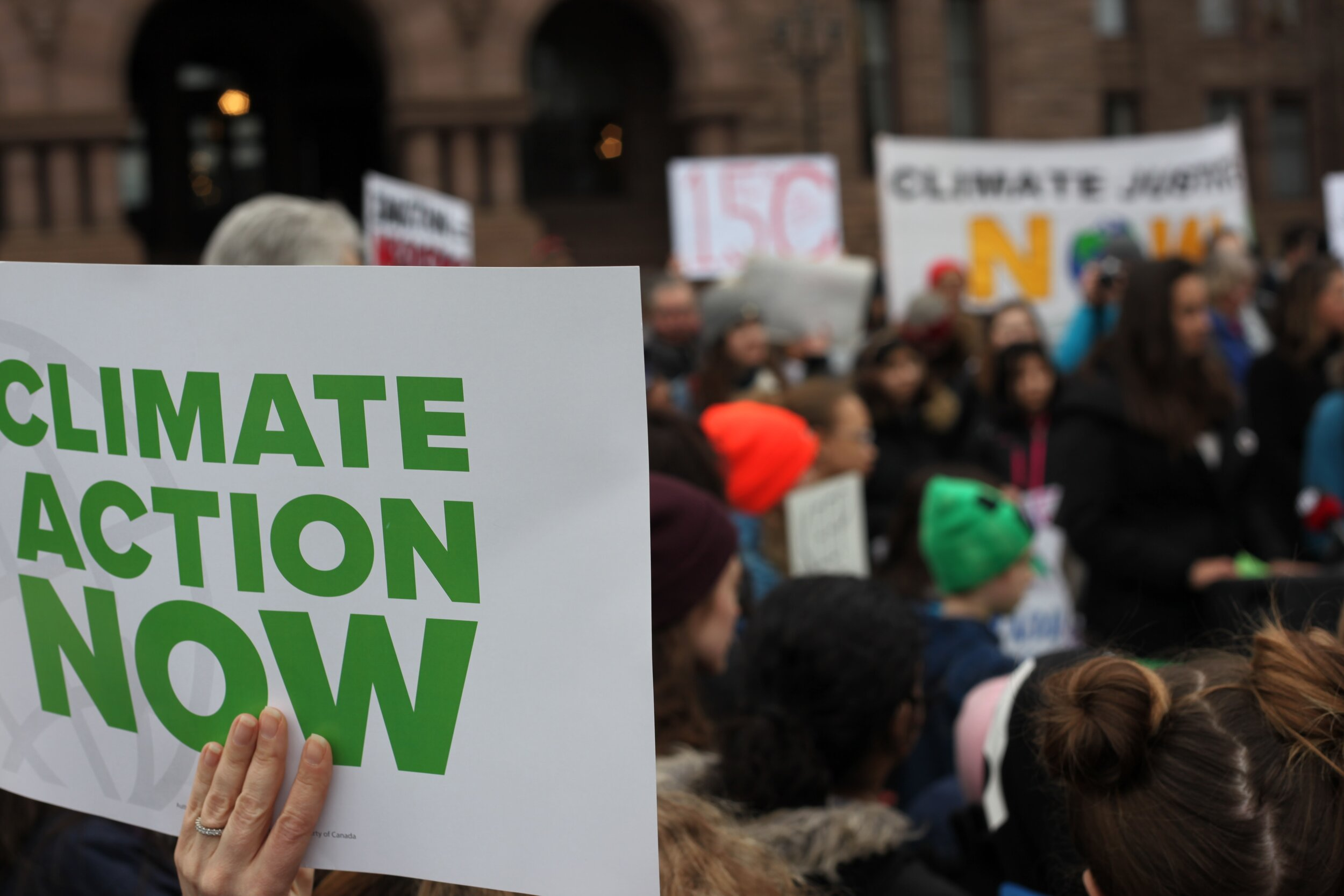Many people have this year gone to the streets to call for greater climate action from governments around the world, including in Toronto, Canada (photographed). Image credit: Jasmin Sessler / Unsplash.