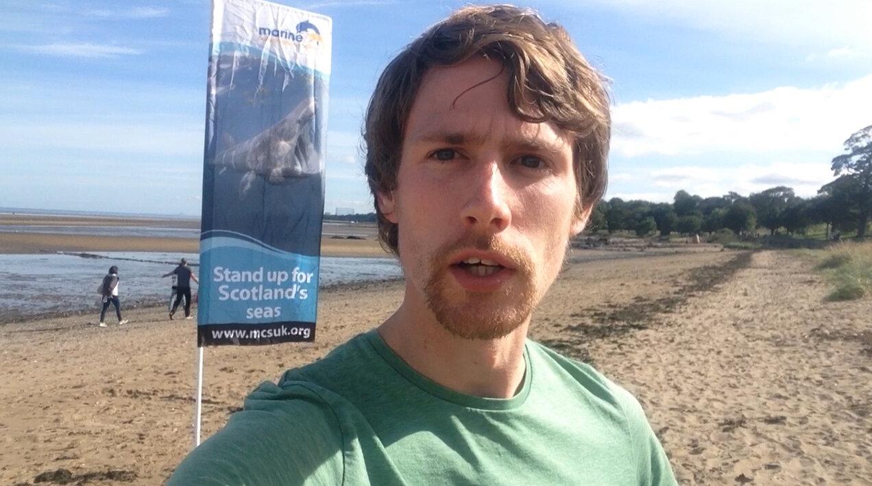 Nathan Great British Beach Clean Cramond Scotland