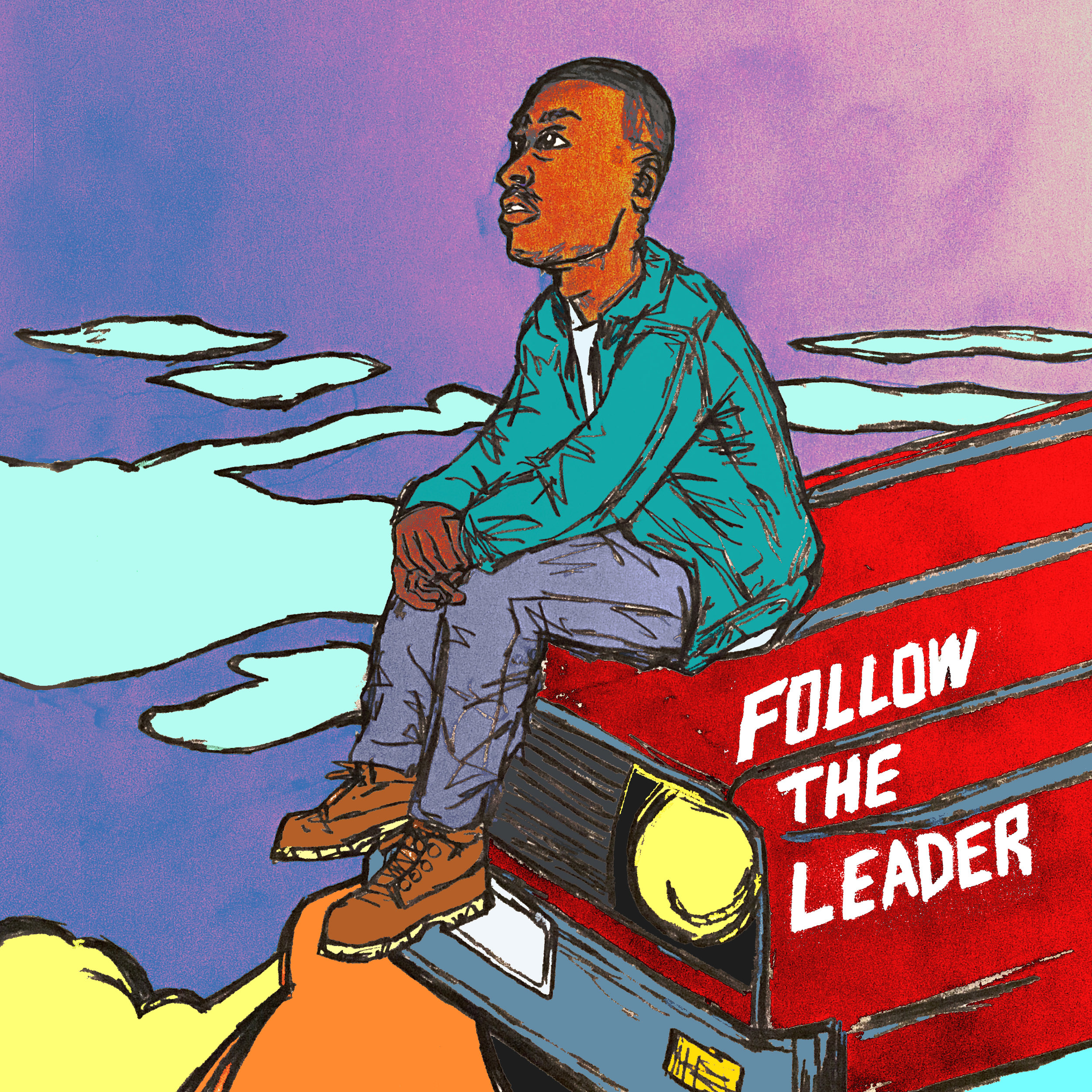 Follow the Leader in the style of jazz by produced by Jonathan Hay, Mike Smith, Benny Reid, Mani Ajami, Atlas Jenkins and Bram Bessoff.