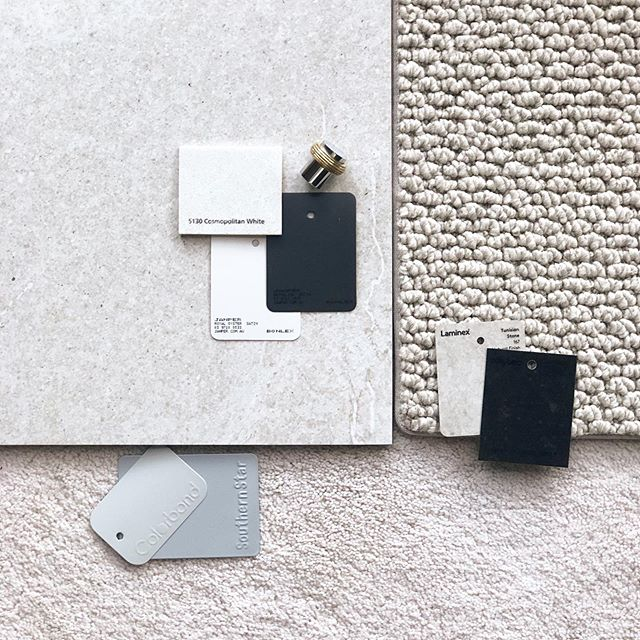 Working on a neutral palette for our client's new build. It's starting to come together! Exciting beginnings 🥚 #interiordesign #echucamoama #moama #echuca #styling #homestyling #designer #mood #palette #texturepalette #stylists #colourconsulting #localbusiness #creativestartup
