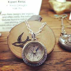 Karen Reiss Staub - York, PA - Sterling silver handmade designs inspired by nature, made in-house at The Watchmaker's Daughter.