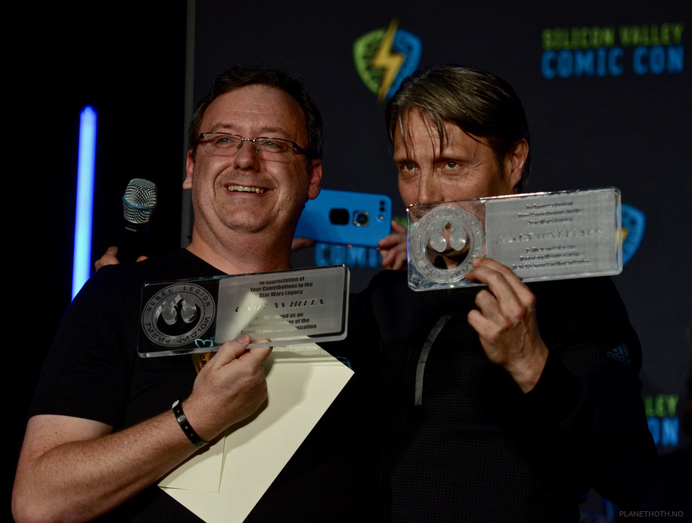 Gary and Mads inducted into the Rebel Legion. (Gary used this  photo on his Instagram ) Photo: Teodor Bjerrang