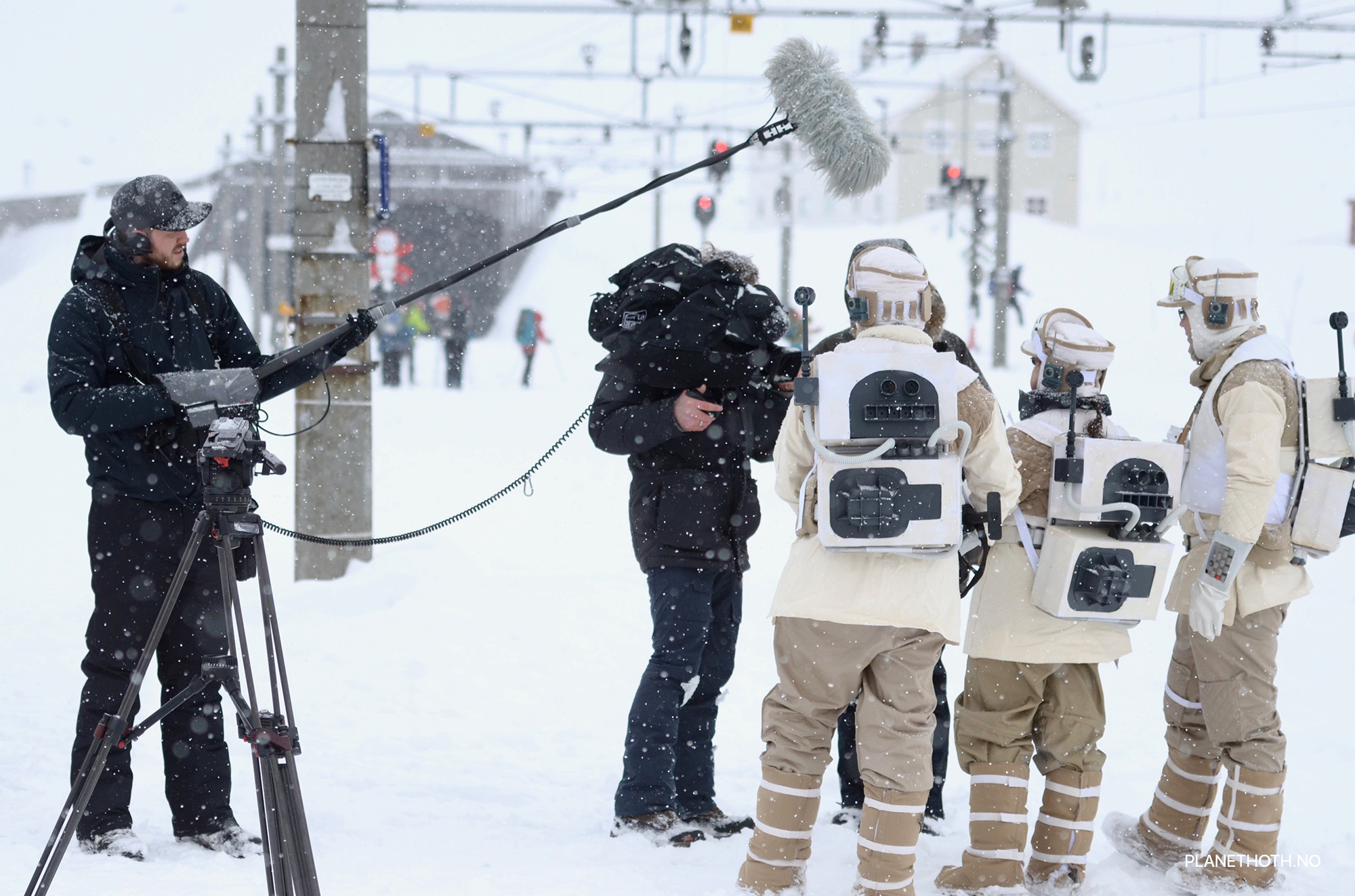 German television making a story from HOTH