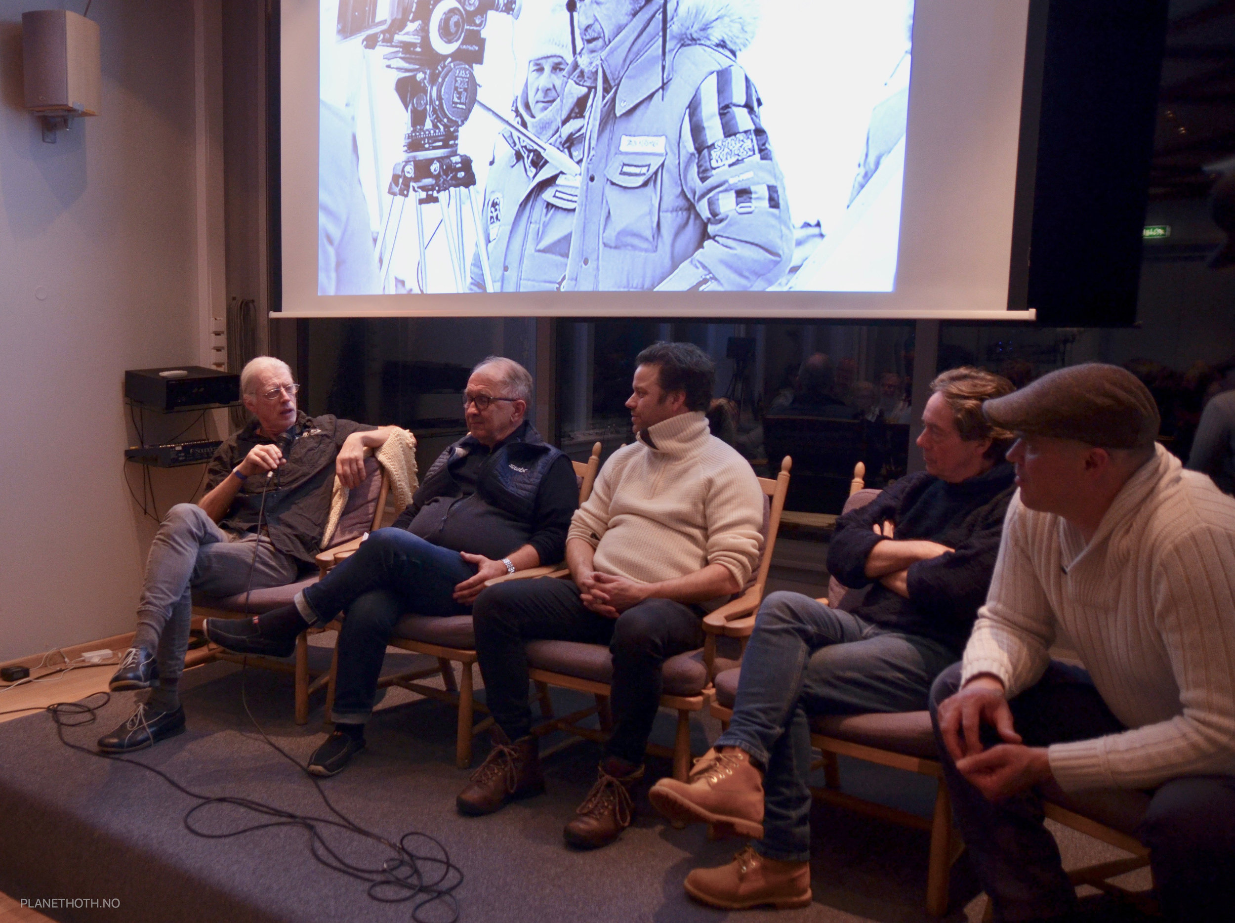 Crew interviews panel at Visit Hoth 2019 - from left. Christian Berrum, Harald Lystad, Andreas Frølich, Martin Gant and Martin Dahl.