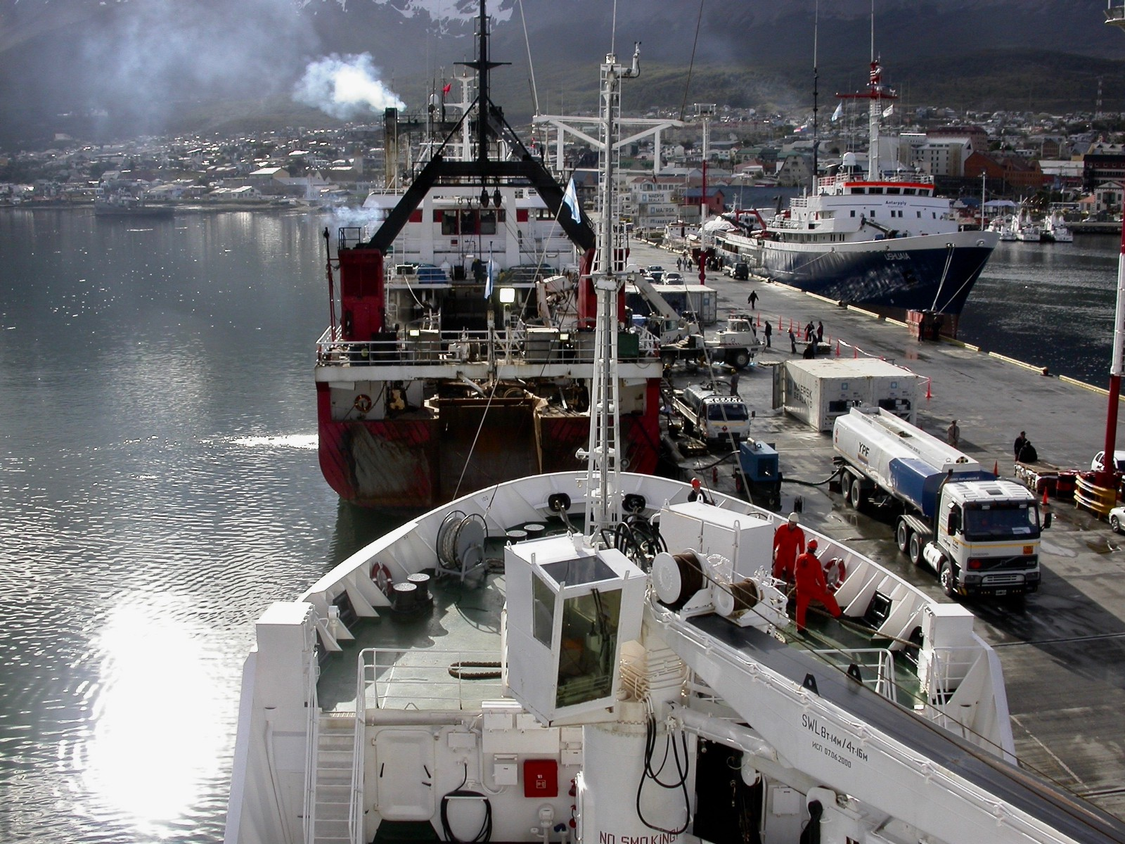 Ushuaia  harbor — Crossing  The Drake Passage  the next two days (5 February 2003)