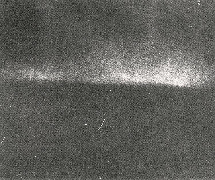 The oldest surviving photo of the Northern Lights. Taken by the German researcher, Martin Brendel, in Bossekop, Alta, on the 5th of January 1892. Arkiv: World Heritage centre for rock art, Alta Museum. The exposure time for that photo was a mere 7 seconds. ( Alta Museum )