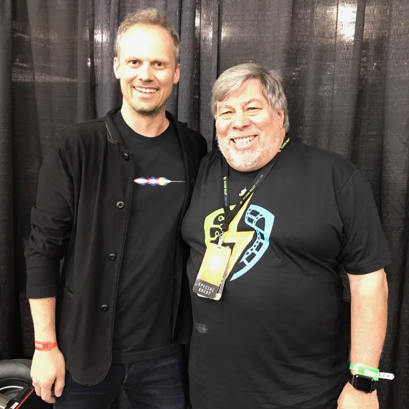 Teodor Bjerrang and Steve Wozniak — 30. April 2017 at the Silicon Valley Comic Con in San Jose