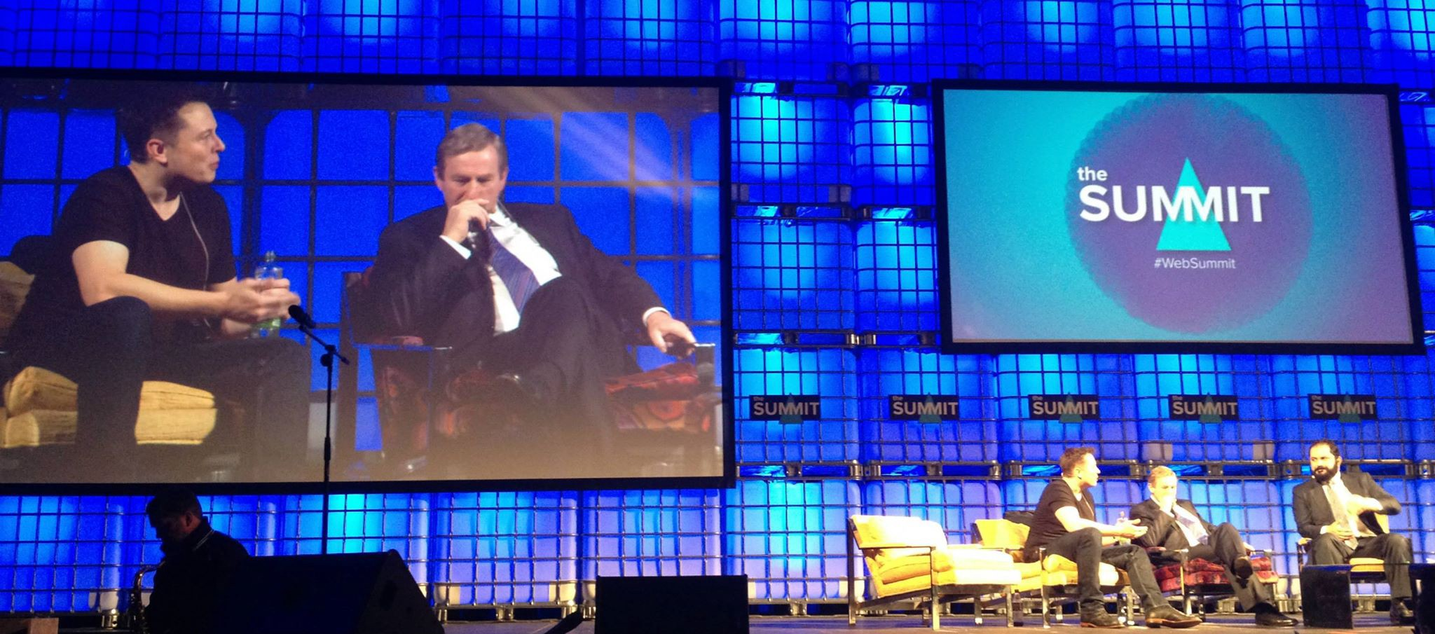 Elon Musk and Enda Kenny at WEB SUMMIT 2013