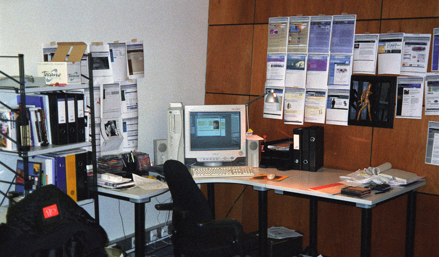"My ""New Media Science"" office 1998"
