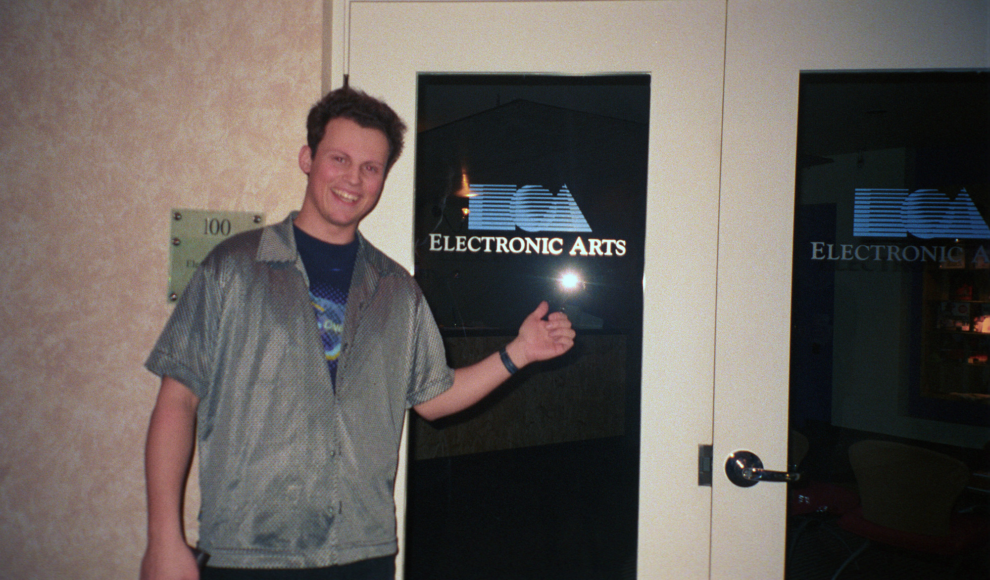 Teodor visiting Electronic Arts - 1997