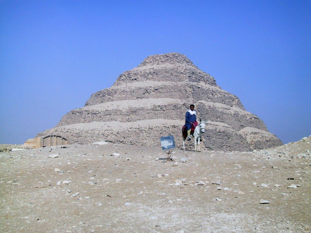 The stepped  Pyramid of Djoser  at Saqqara