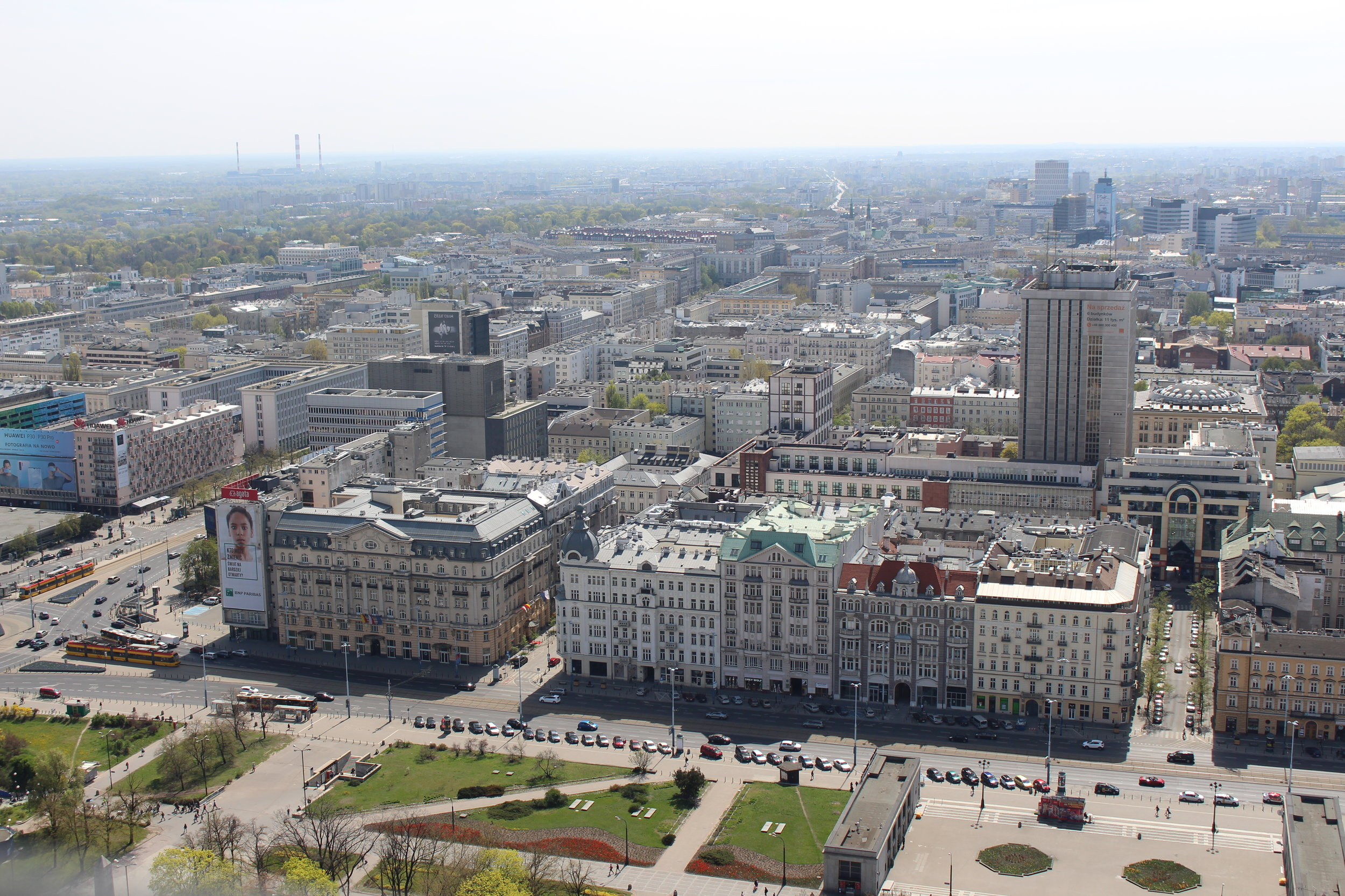 View over Warsaw Centre