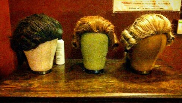 Typical dressing room shot from backstage at the Edinburgh Fringe in 2012. Little known fact, @mickcullinan is the only one of us who doesn't wear a wig.