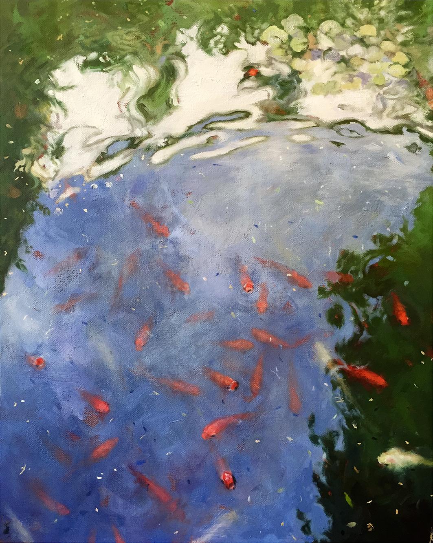 """THE FISH OF ALCAZAR  oil on canvas 20"""" x 16"""" 2015"""