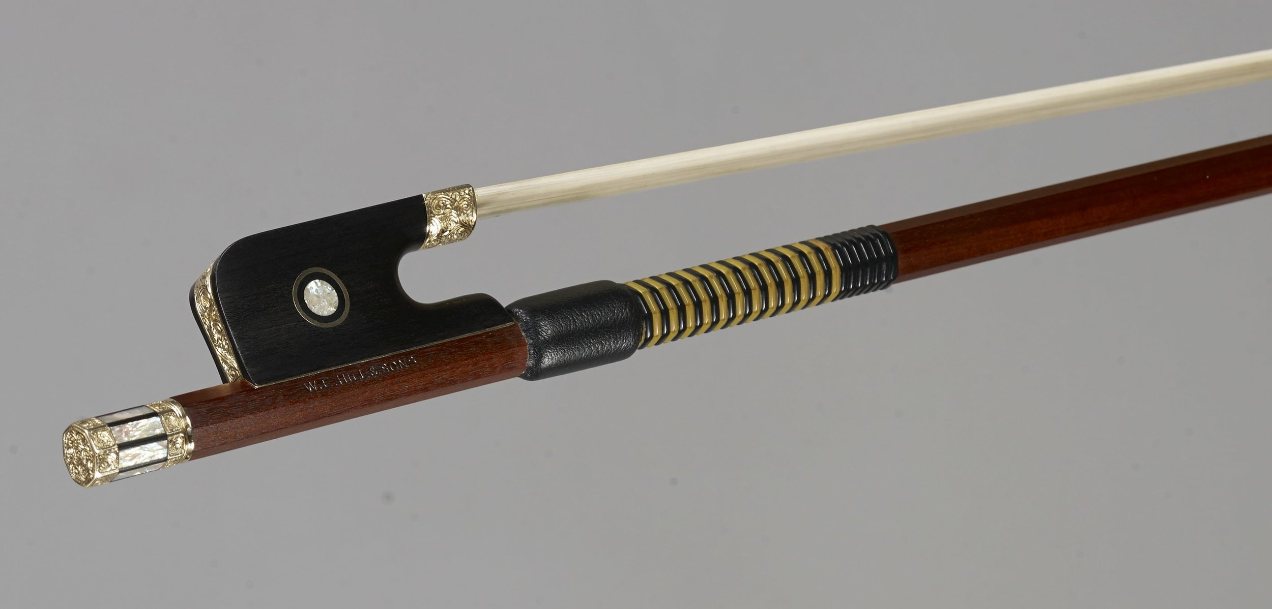 Gold Engraved Cello Bow (2018) by W. E. Hill & Sons