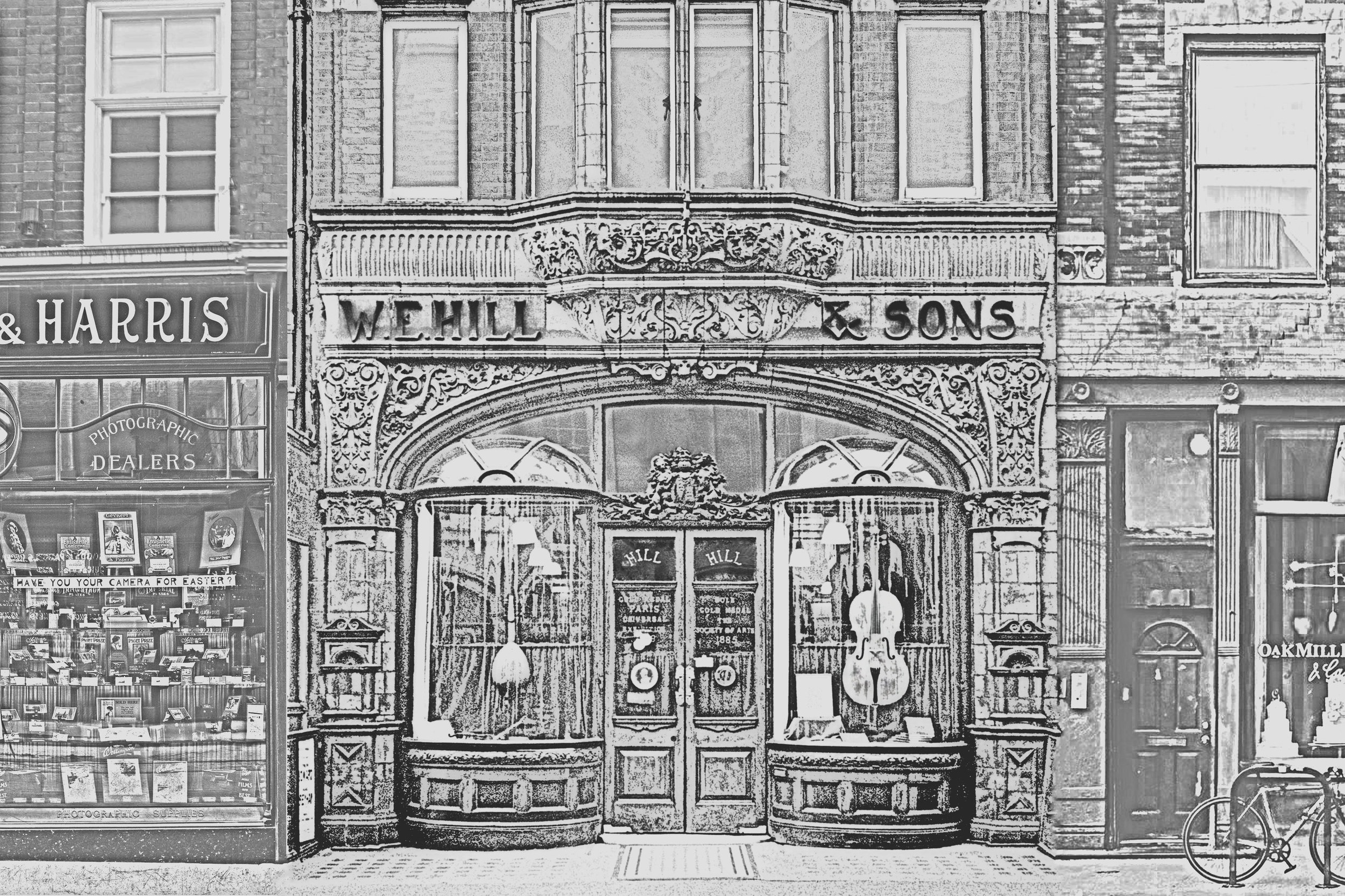 The Hill shop front at 140 New Bond Street