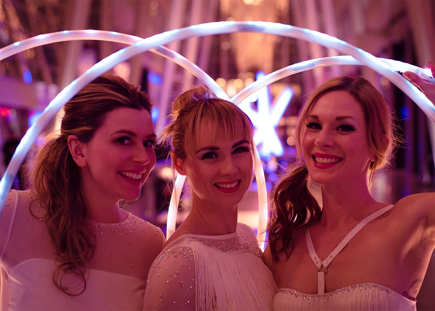 LED hula hoop trio