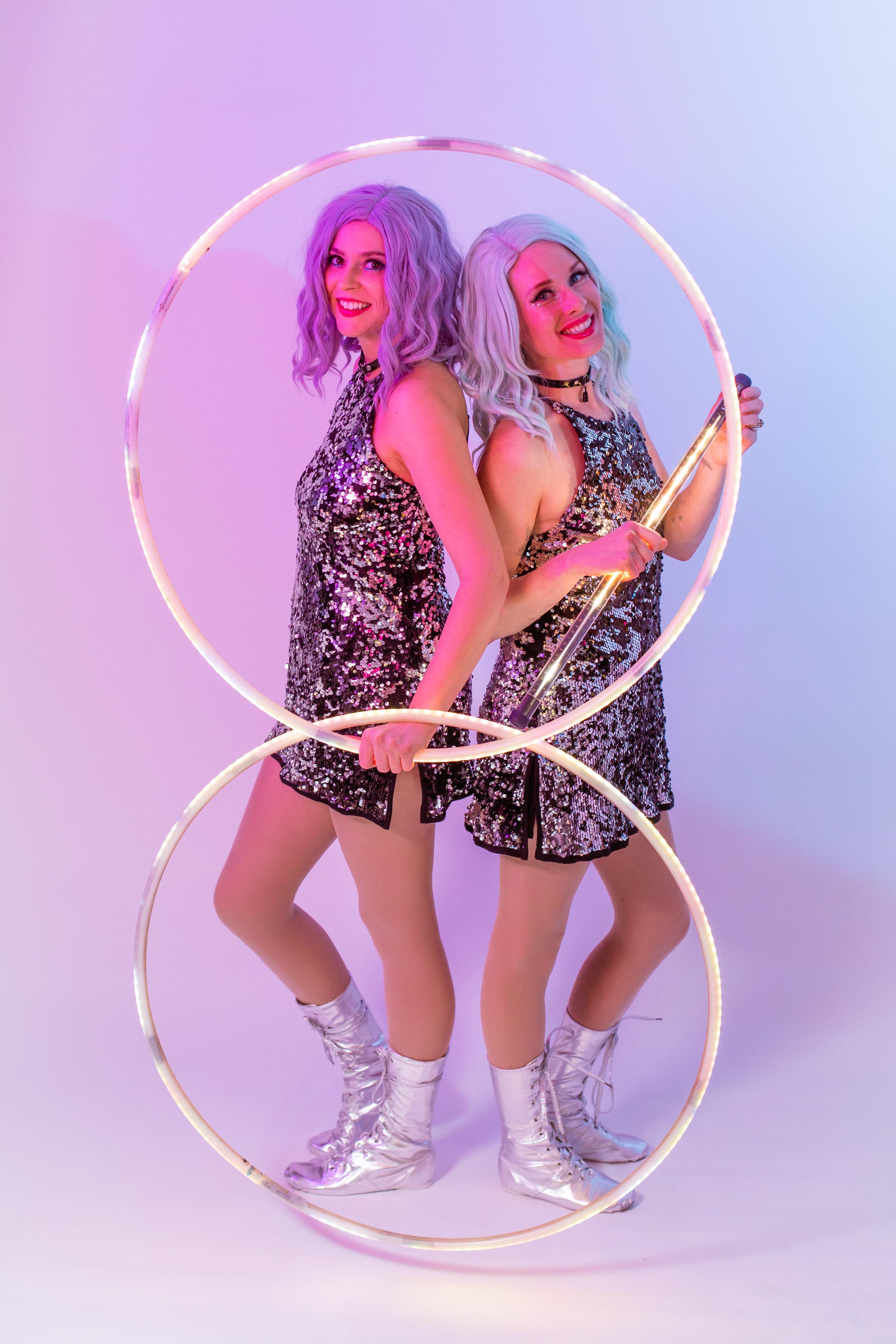 LED hula hoops duo