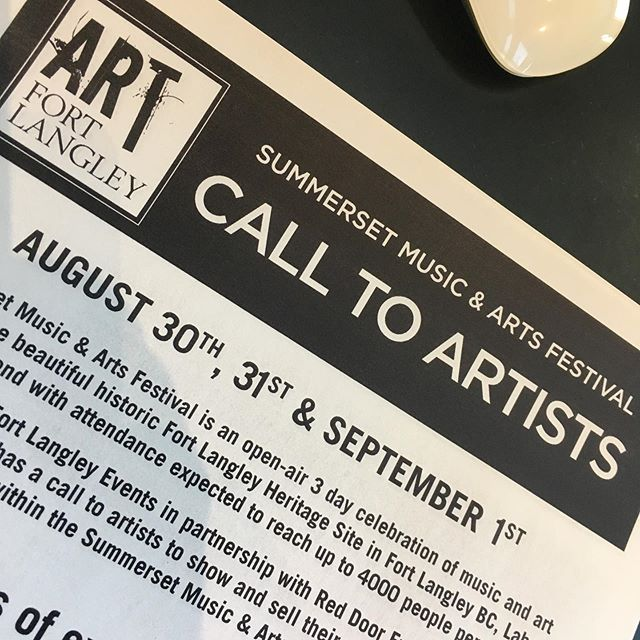 Link in bio to our website for our #calltoartists to exhibit work @summersetfestivalca . We have early bird registration prices. Tag your artist and creative friends #fortlangley #langley #langleyfresh #artfortlangley