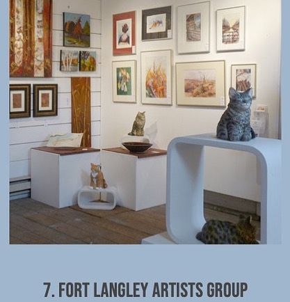 Number 7 on the Art Fort Langley Summer Art Tour is the Fort Langley Artists Group at the CN Station. Stop in and see what's going on and who's work is on the walls. #art #gallery #artgallery #fortlangley #artwalk #artists #flag #cnstation #jazzfest #july27 #artfortlangley #tour #artistsoffortlangley