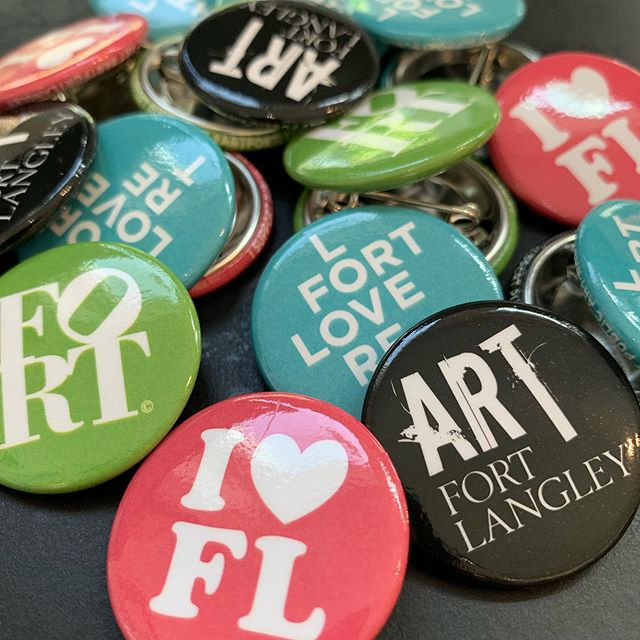 Art Fort Langley is embarking on a mission to bring more public art to our great village and now you can help. Support the Art Fort Langley Public Art Fund by purchasing and wearing your collectible buttons. Buttons will be distributed at select locations in town and will be available for a minimum donation of $2 each. right now you can get your buttons at @number52gallery and @thefortfinery on Billy Brown Road. We'll get them out into more locations soon. Rest assured that the profits from the sale of these buttons will stay right here in Fort Langley and your donation will support future public art installations for residents and visitors to enjoy. #supportpublicart #fortlangley #artfortlangley #art #community #love #fortlove #collect #share #spreadthelove #fortlangleyart #thankyou