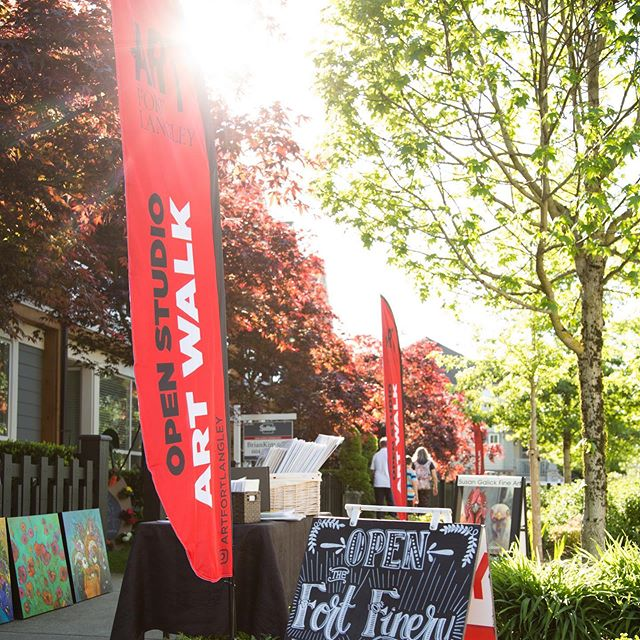 Tomorrow Saturday July 27th. 11-4 the #artwalk is on #fortlangley #langley #langleyfresh check through our previous posts to see participants, pick up a map at any location.