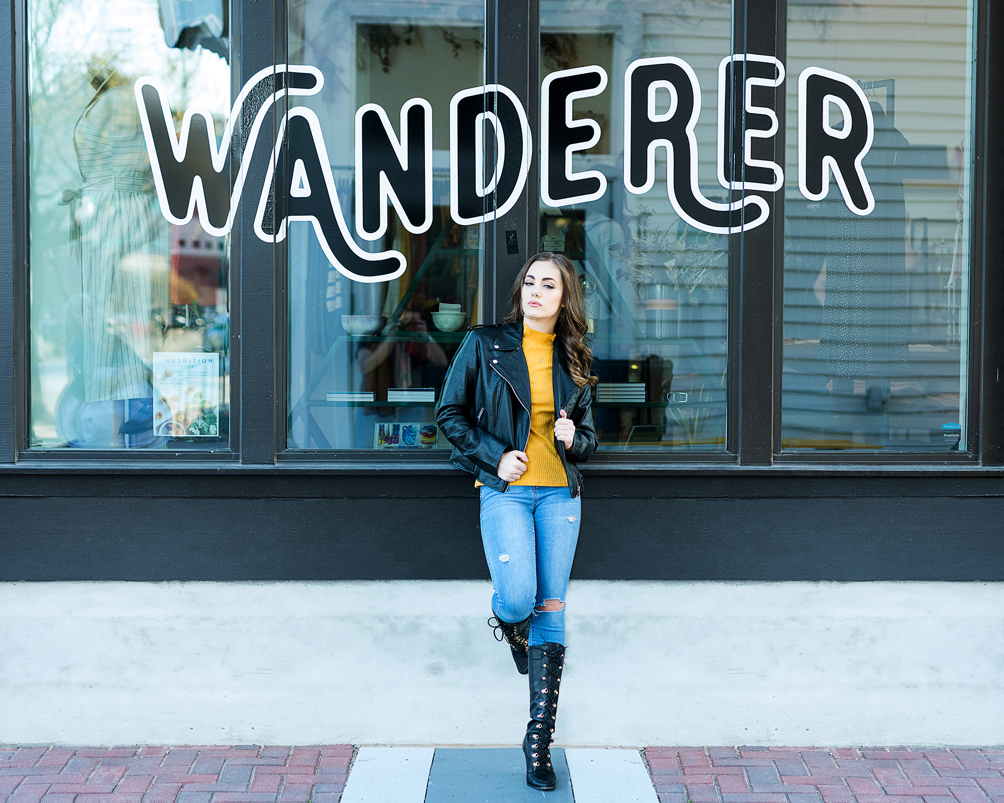 Downtown session Weatherford senior photographer Fort Worth