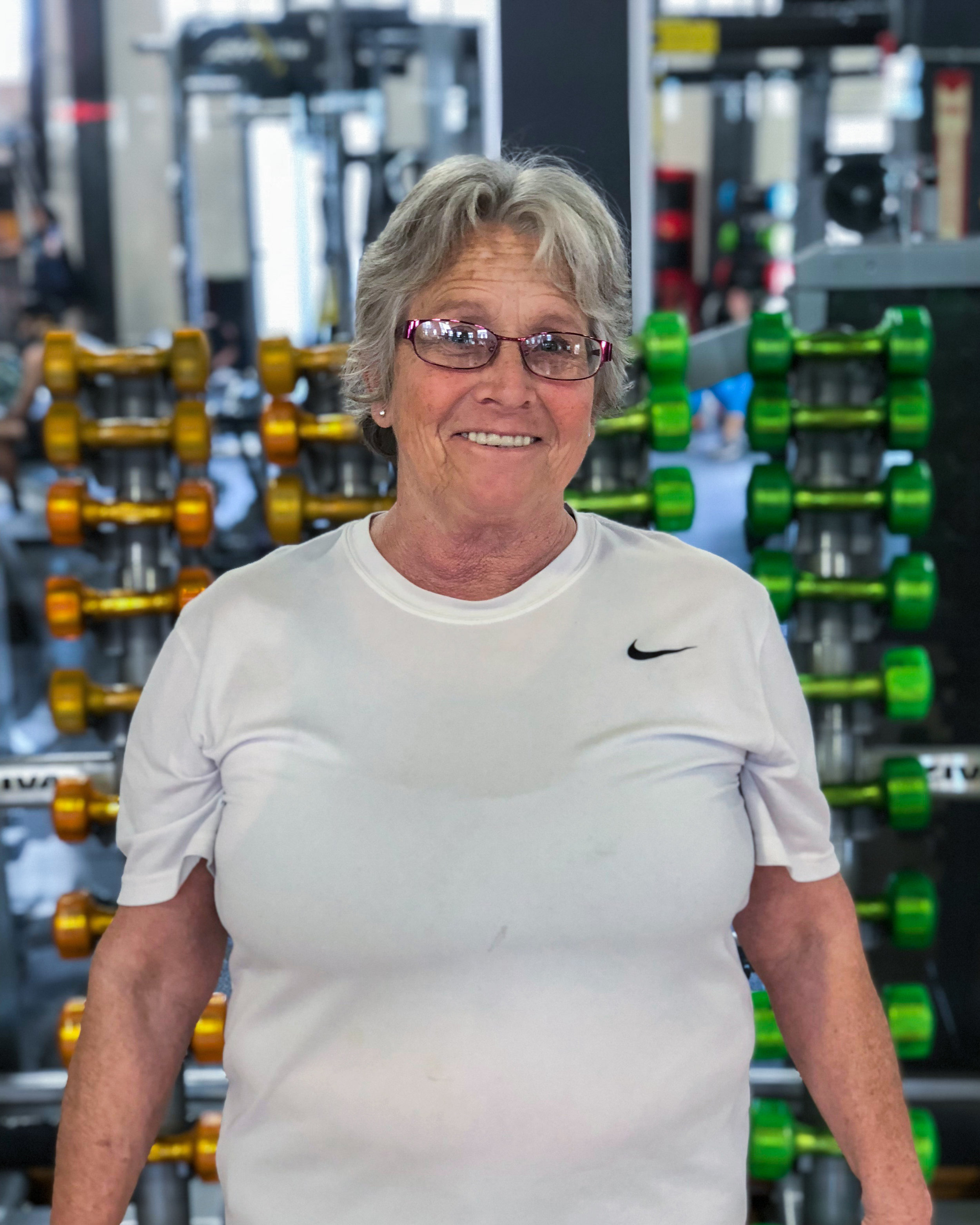 """- CATHY - - """"Thank you all so much. Working with Trainers Coalition has really helped my shoulder pain."""""""