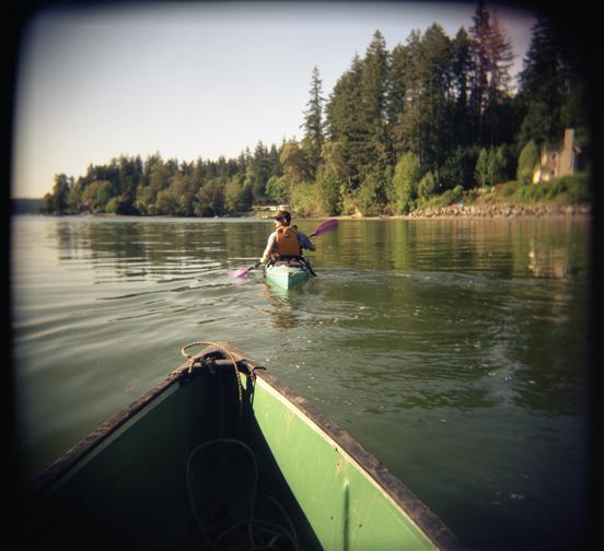 Kayaking on Bainbridge Island, WA