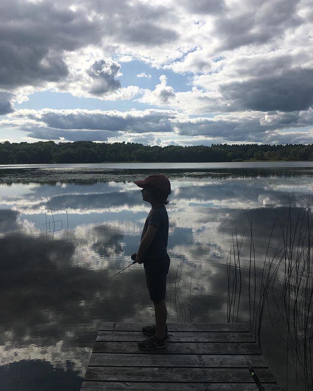 Fishing on Kilby Lake, WI
