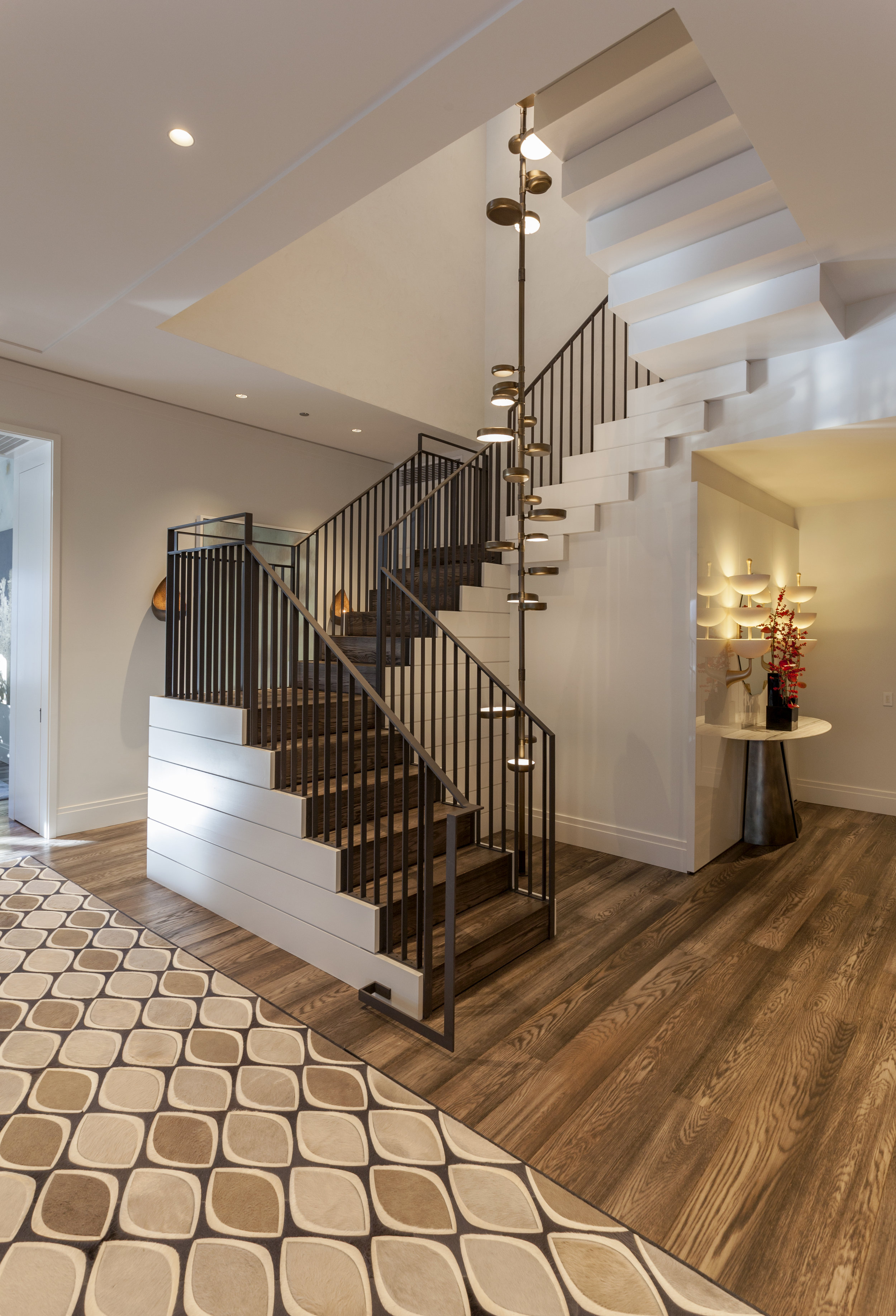 Modern Staircase at Gold Coast Penthouse