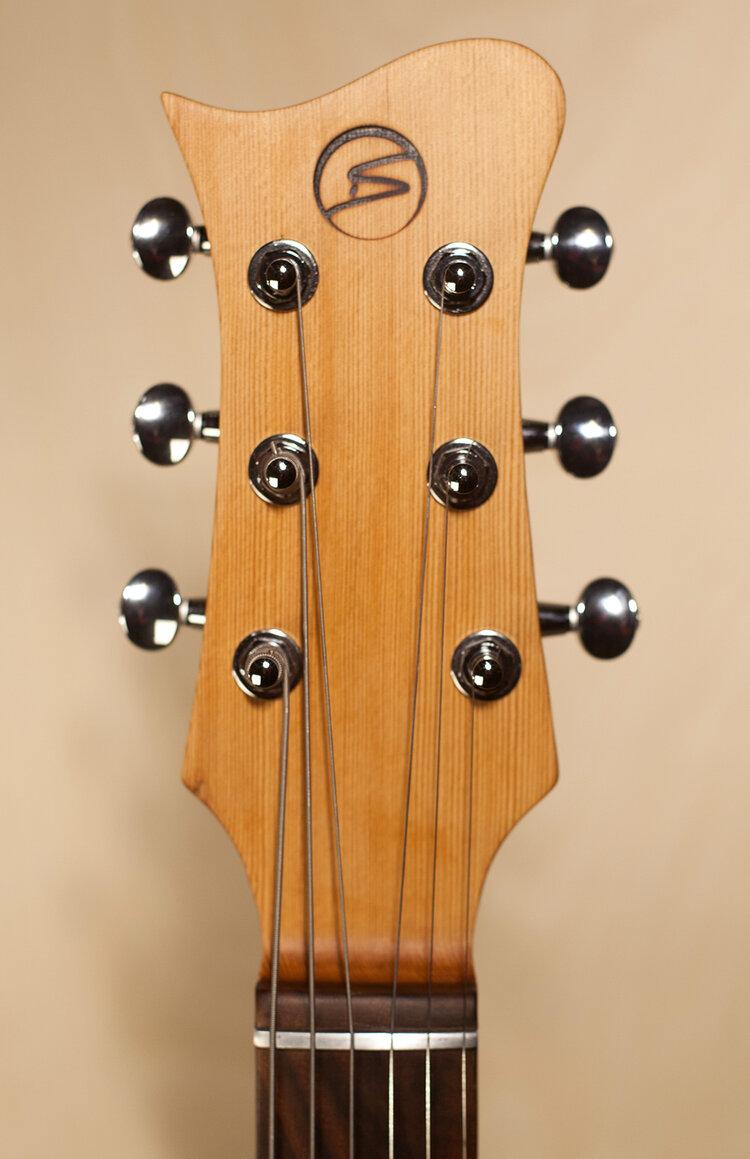 Rustic Double Cutaway Guitar