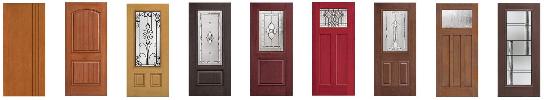 Wood Grain Entry Doors