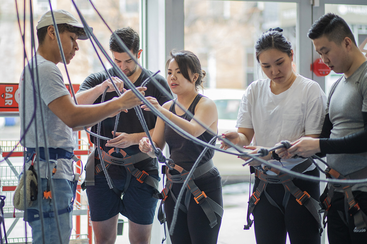 Classes - Your LTC package includes Intro to Climbing so you can learn the knots and how to belay, and your choice of Toprope Movement or Intro to Bouldering.