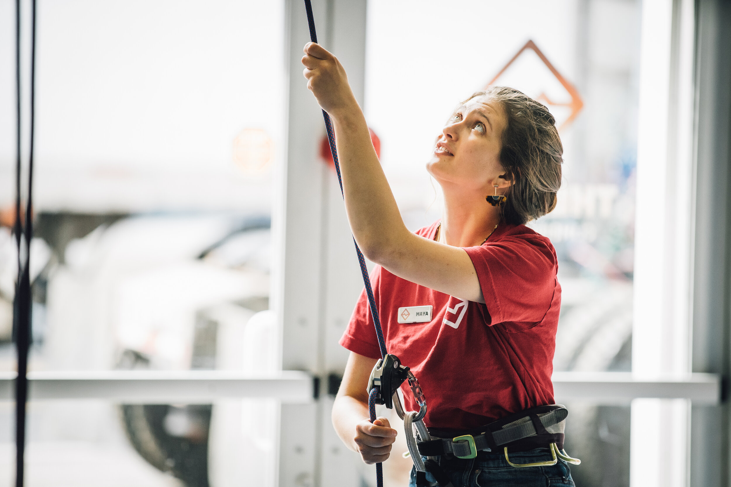 dedicated staff - Our staff stays with your party to control the rope (belay) for your climbers and ensure that your party runs smoothly.