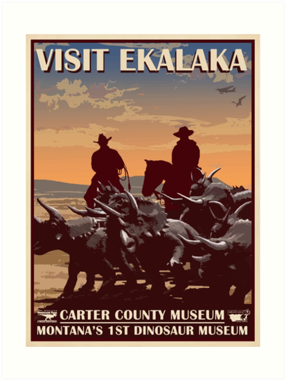 Ekalaka, MT  - Part of the Montana Dinosaur Trail, this town of 332 people boasts the oldest dinosaur museum in the state, The Carter County Museum. Their Annual Field-Season Party is a not-to be missed event for any dinosaur enthusiast.