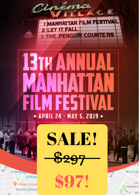 LIMITED TIME! - - See EVERY Film at the festival —— $1200 Value!- Attend The Press & Industry Party—- INVITE ONLY!- Walk the Red Carpet—- EXCLUSIVE!!!-Attend all Industry Events at the festival—- $1000 in ValueOVER $2000 in Value!!!