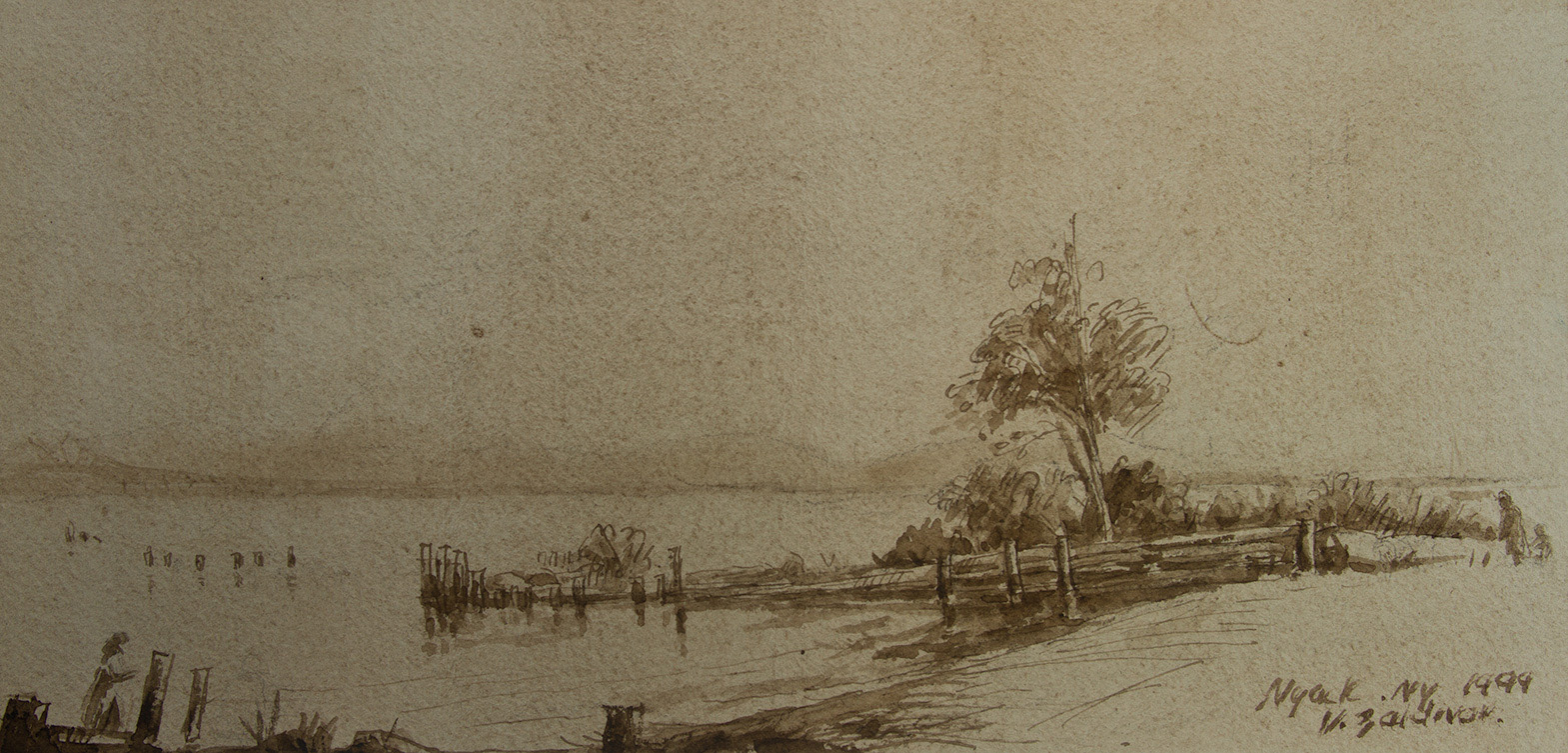 View over the Hudson, pen and brown ink ..jpg