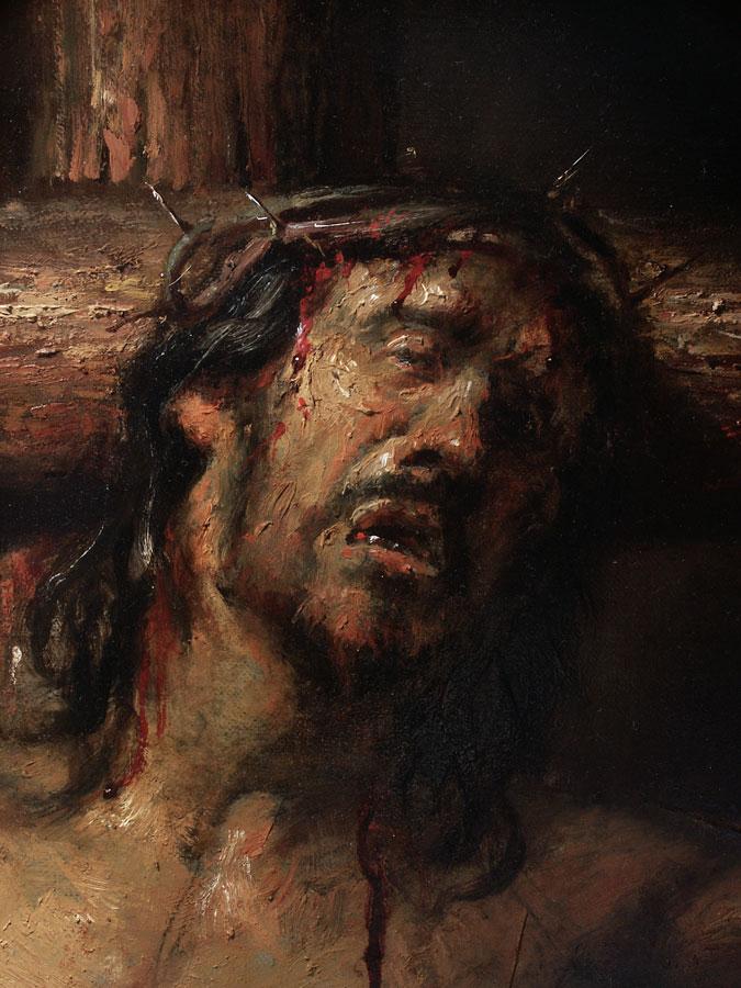 Crucifixion, detail.